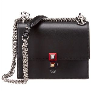 100% Authentic Fendi Kan l small leather bag